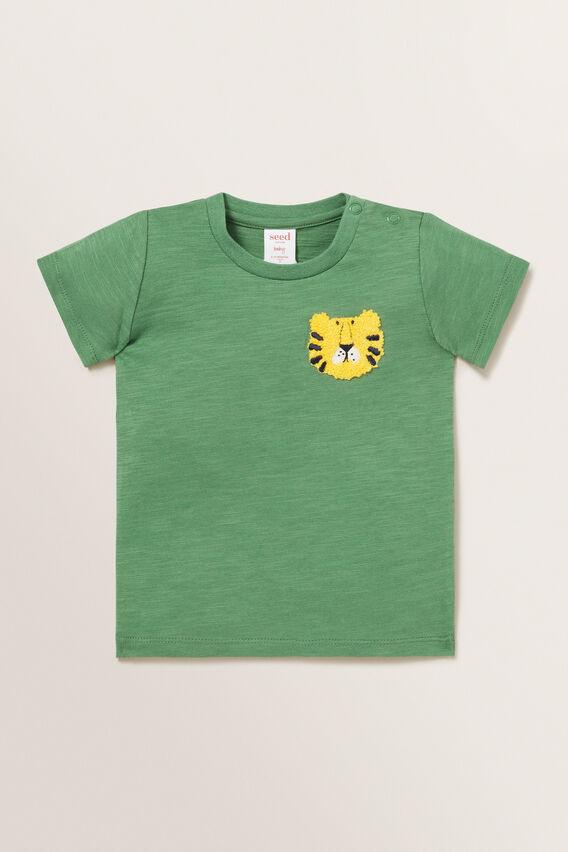Lion Chest Motif Tee  FOREST  hi-res