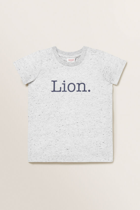 Lion Tee  CLOUDY MARLE  hi-res