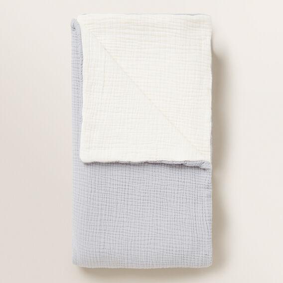 Layered Muslin Blanket  PALE GREY  hi-res