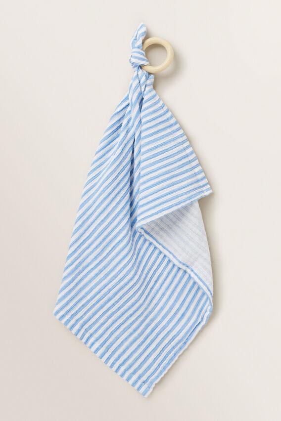 Muslin Comforter  CORNFLOWER BLUE  hi-res