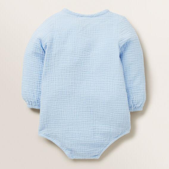 Cheesecloth Wrap Onesie  POWDER BLUE  hi-res
