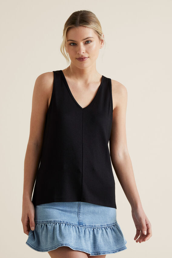 V Neck Tank  BLACK  hi-res