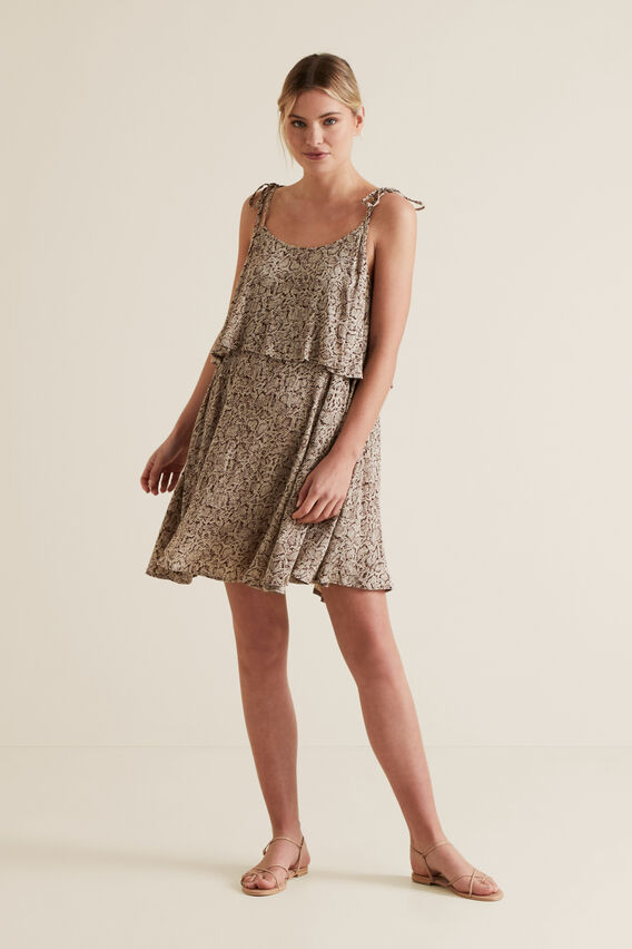 Python Mini Dress  SNAKE PRINT  hi-res