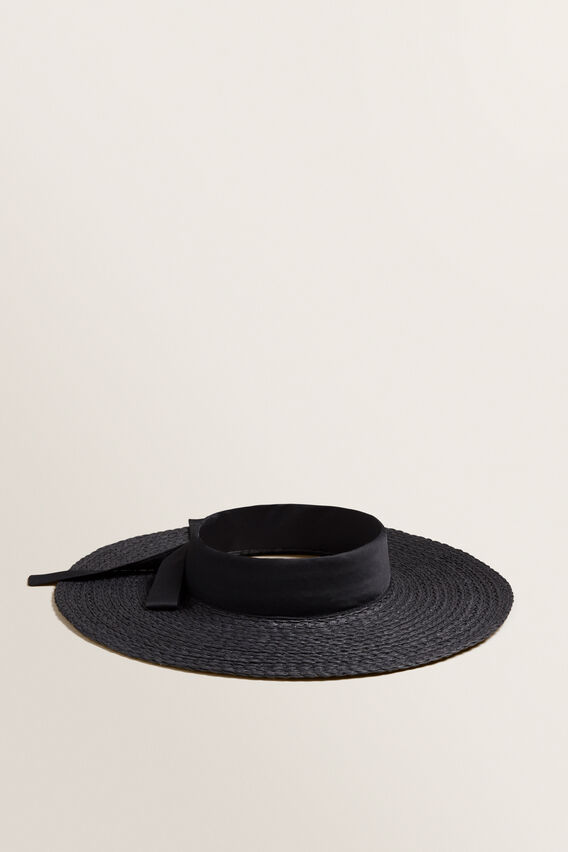 Open Top Sunhat  BLACK  hi-res