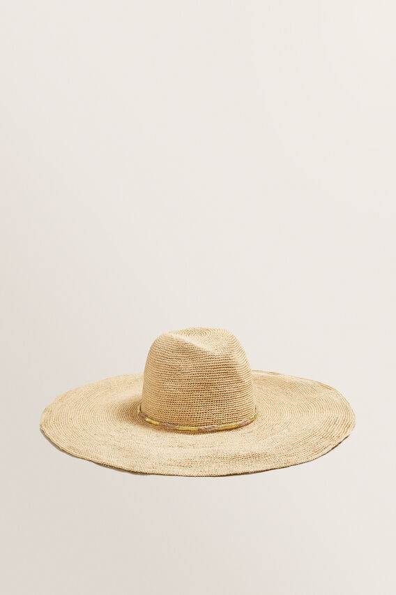 Wide Brim Panama  GOLD/NATURAL  hi-res