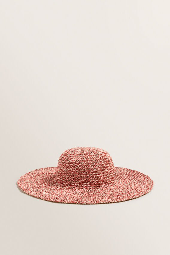 Two Tone Sunhat  POPPY MULTI  hi-res