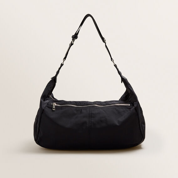 Spliced Half Moon Bag  BLACK  hi-res