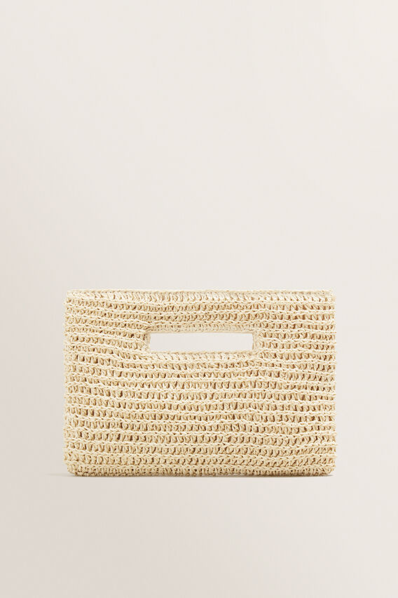 Weave Straw Clutch  NATURAL  hi-res