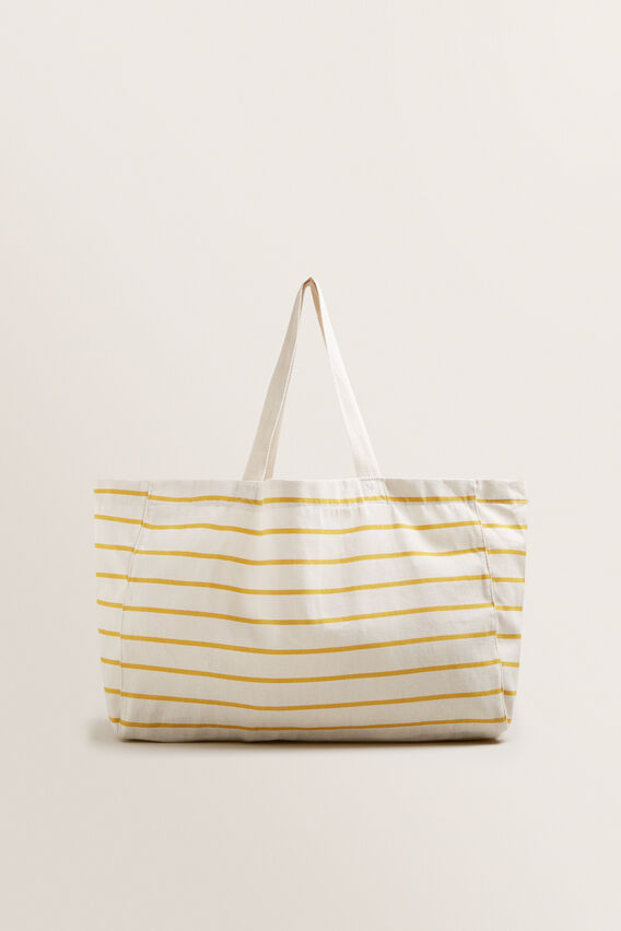 Canvas Tote  GOLD RUSH STRIPE  hi-res