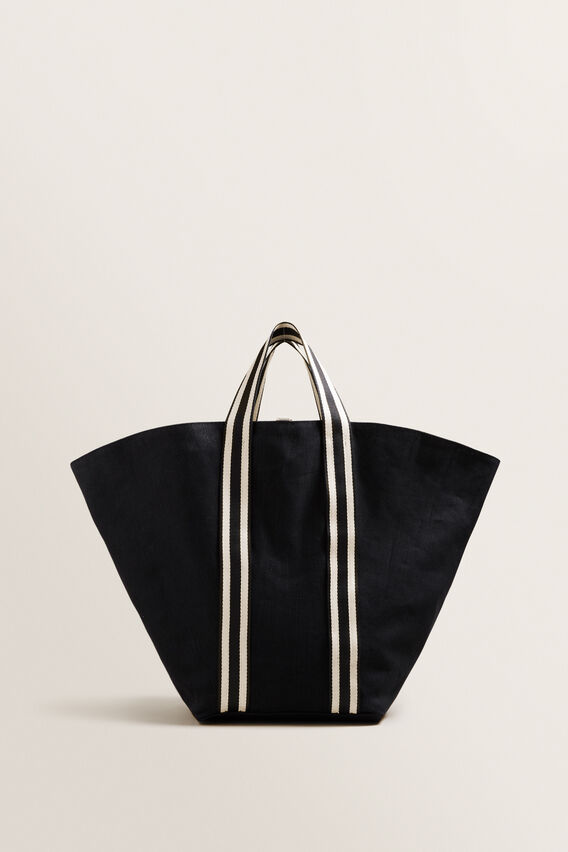 Reversible Fan Tote  NATURAL/BLACK  hi-res