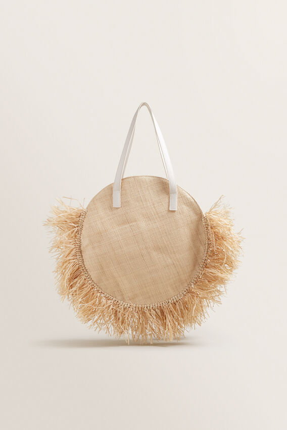 Fringe Tote  NATURAL  hi-res