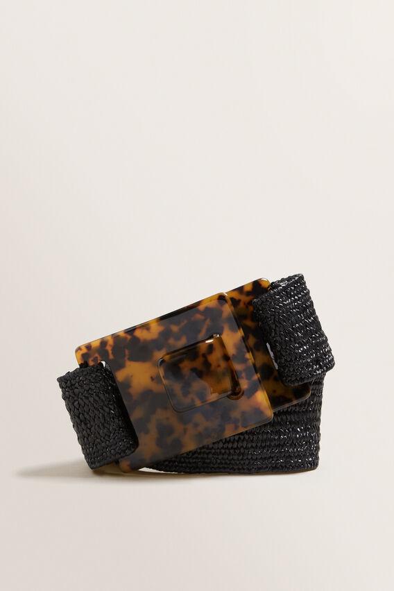 Tort Buckle Belt  BLACK  hi-res