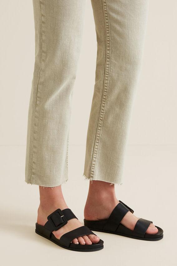 Lilly Footbed Sandal  BLACK  hi-res