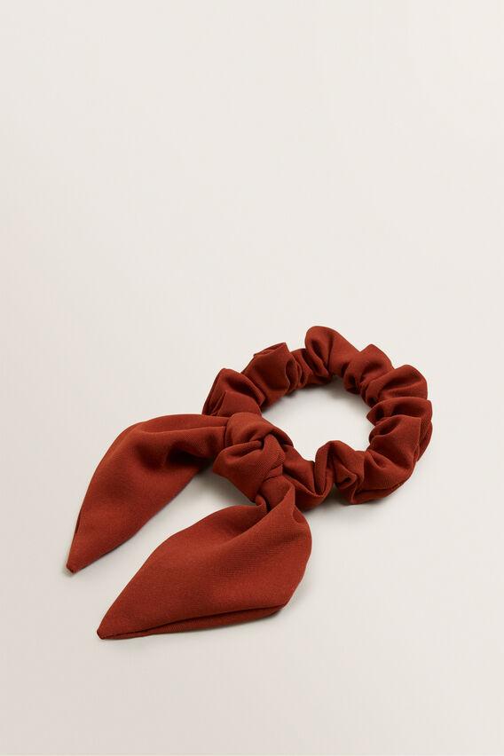 Knot Scrunchie  SUNBURNT ORANGE  hi-res