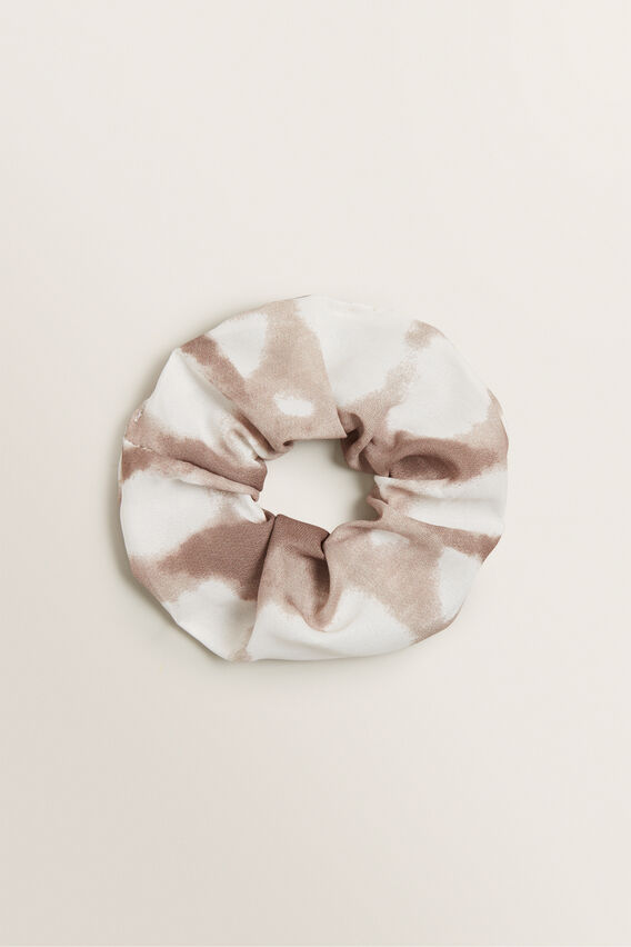 Tie Dye Scrunchie  WARM TAN  hi-res