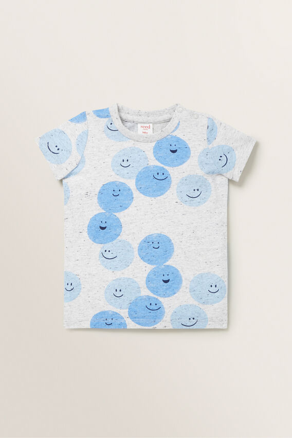 Happy Face Tee  CLOUDY MARLE  hi-res