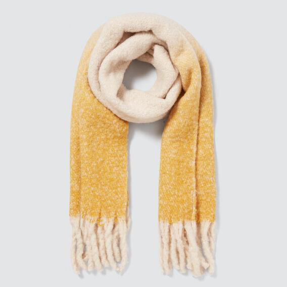 Tonal Plush Knit Scarf  GOLDEN MUSTARD  hi-res