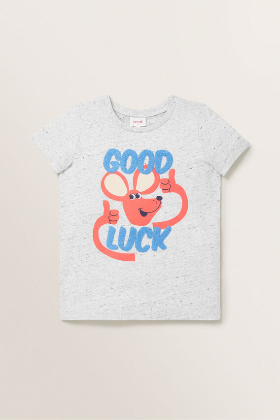 Goodluck Tee  CLOUDY MARLE  hi-res