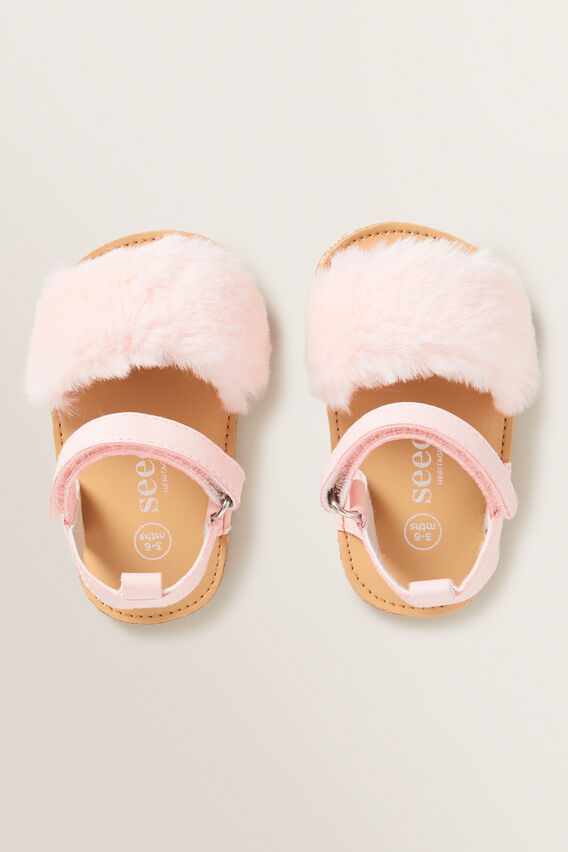 Fur Sandal  DUSTY PINK  hi-res