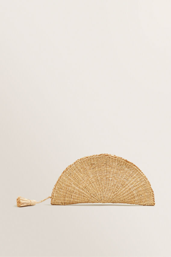 Half Moon Clutch  NATURAL  hi-res