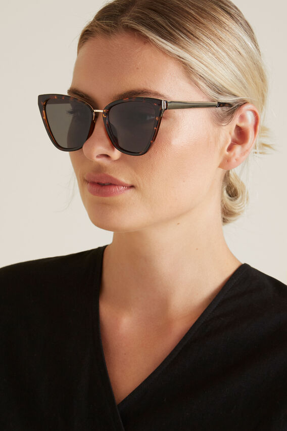 Dana Cat Eye Sunglasses  DARK TORT  hi-res