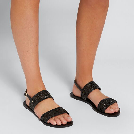 Emily Woven Sandal  BLACK  hi-res