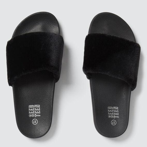 Fluffy Slide  BLACK  hi-res