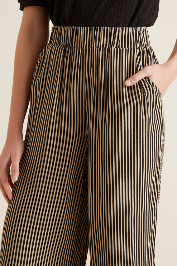 Stripe Relaxed Pant  BLACK STRIPE  hi-res