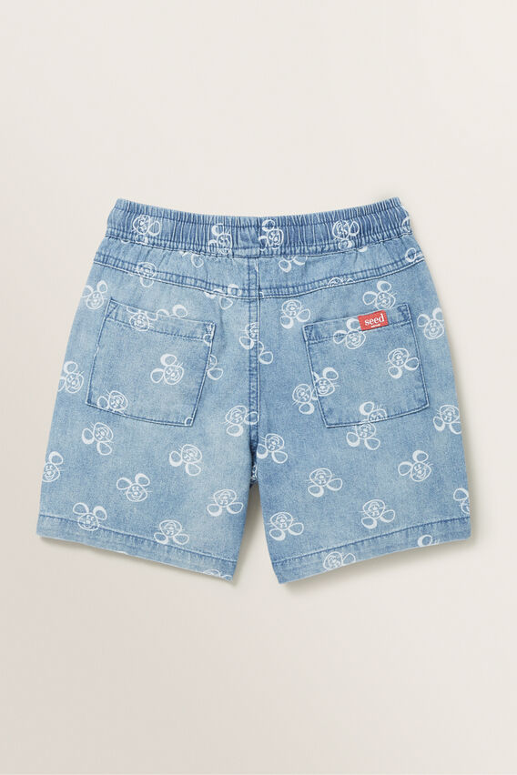 Mouse Short  MID BLUE WASH  hi-res