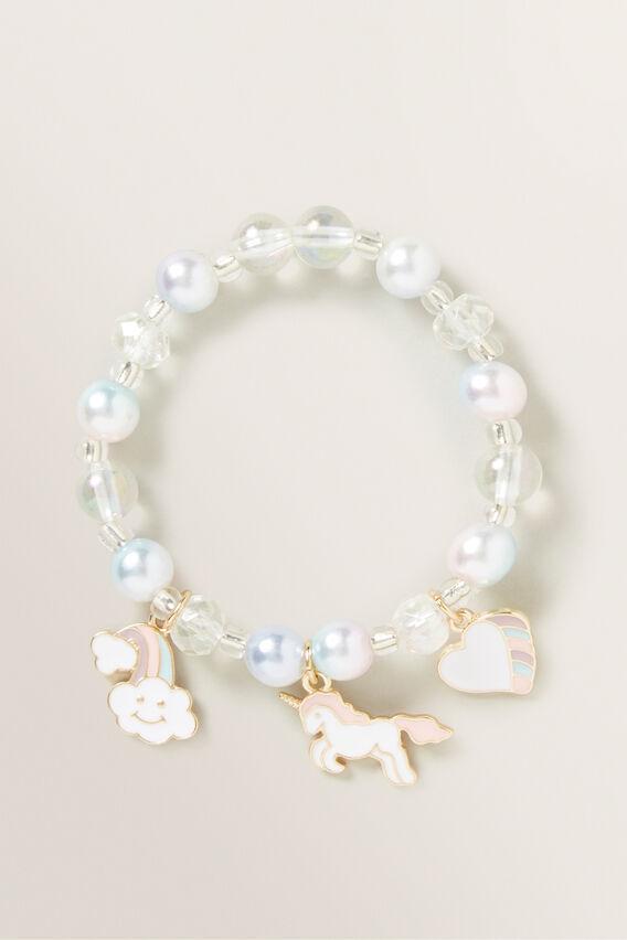 Pearl Unicorn Charm Bracelet  MULTI  hi-res