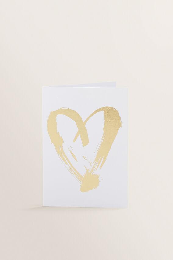 Small Greeting Card  HEART  hi-res