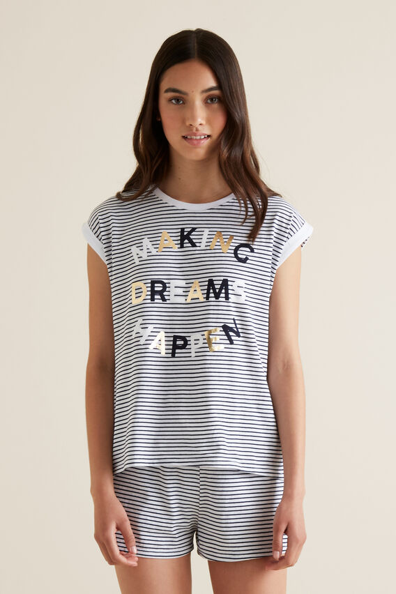 Dream Short Sleeve PJ's  MIDNIGHT  hi-res