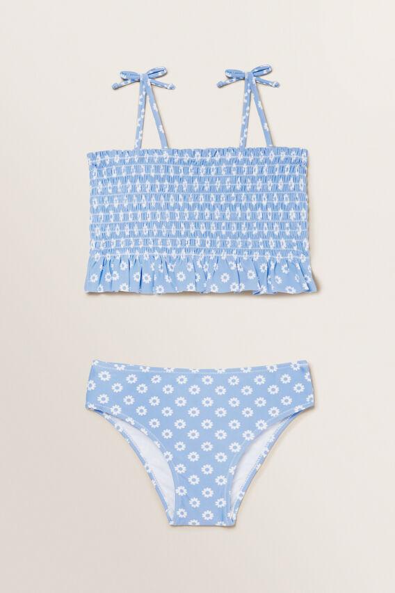 Shirred Ditsy Bikini  BLUEBELL  hi-res
