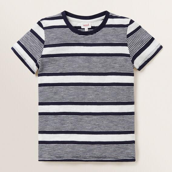 Multi Stripe Tee  MIDNIGHT BLUE  hi-res