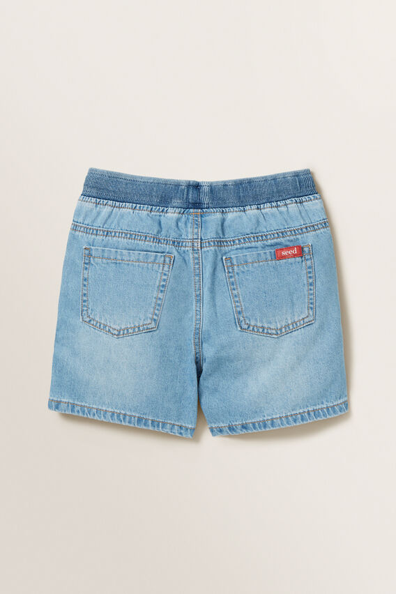Rib Waist Denim Short  VINTAGE BLUE  hi-res