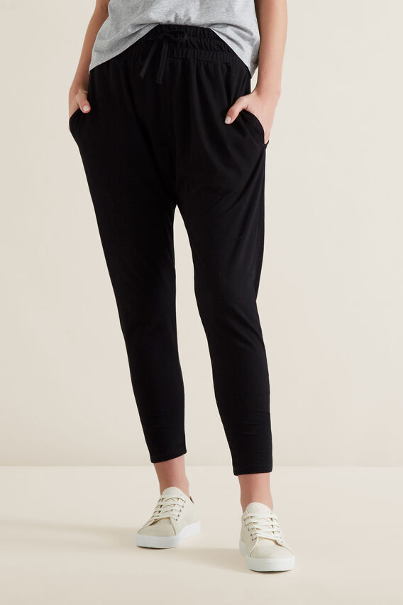 Harem Trackpant  BLACK  hi-res