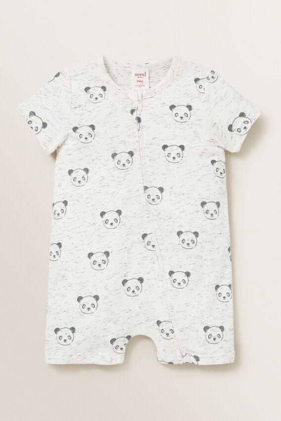 Panda Zipsuit  CANVAS SPACE DYE  hi-res