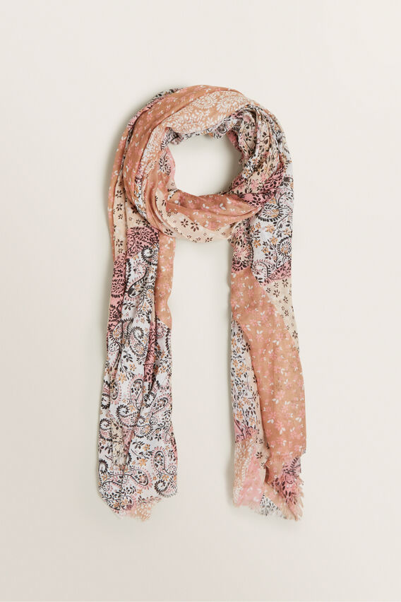 Spliced Paisley Scarf  MULTI  hi-res