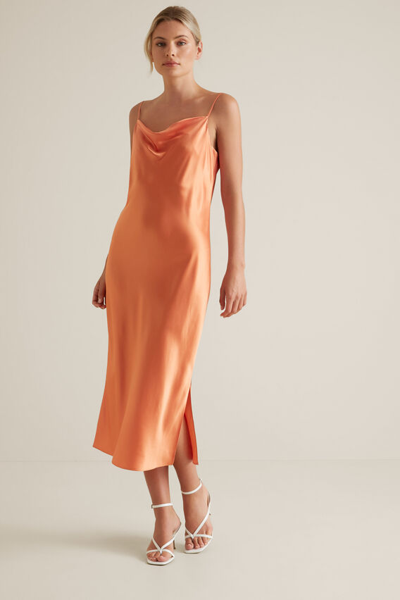 Slip Dress  SOFT CORAL  hi-res
