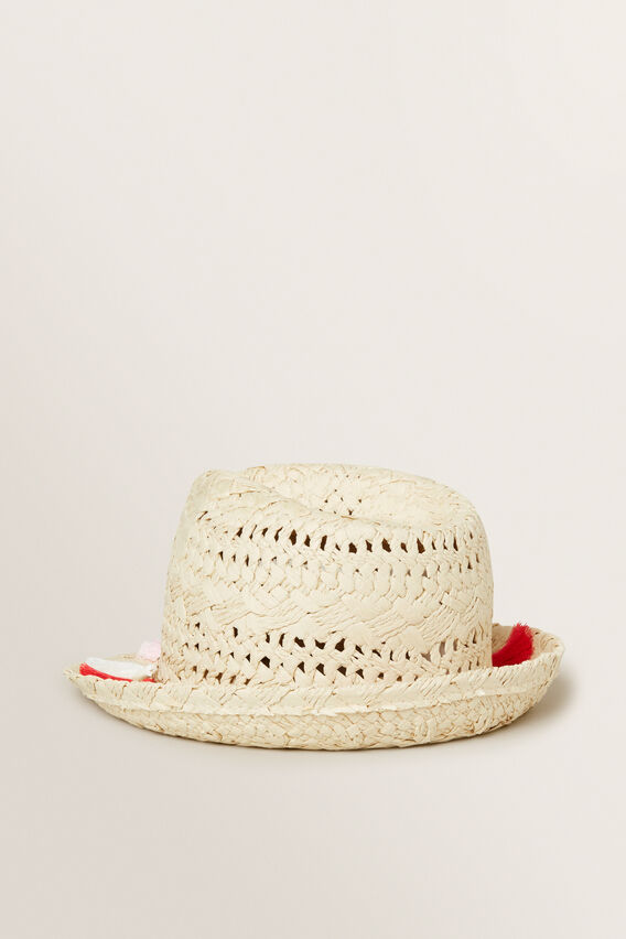 Tassel Trim Fedora  NATURAL  hi-res