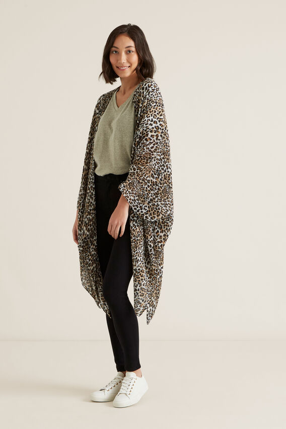 Pleated Summer Poncho  OCELOT  hi-res