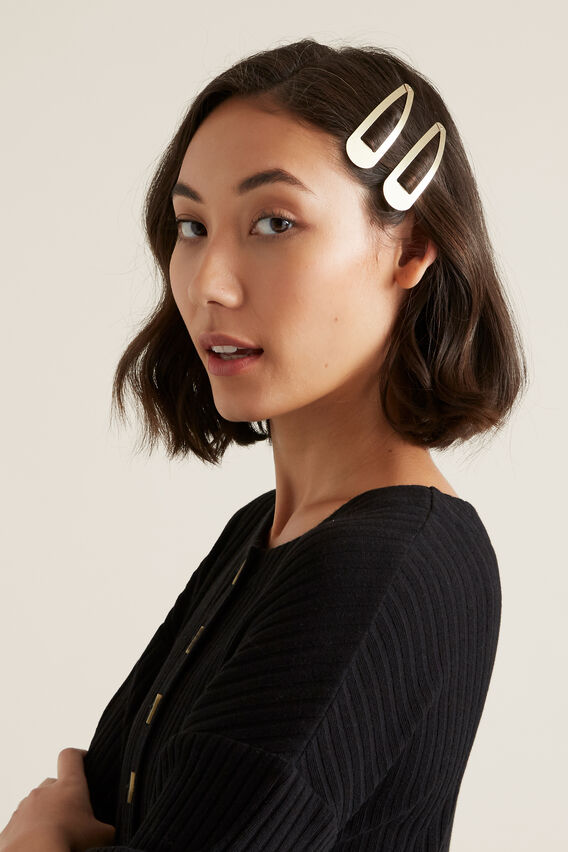Metal Hair Snaps  GOLD  hi-res