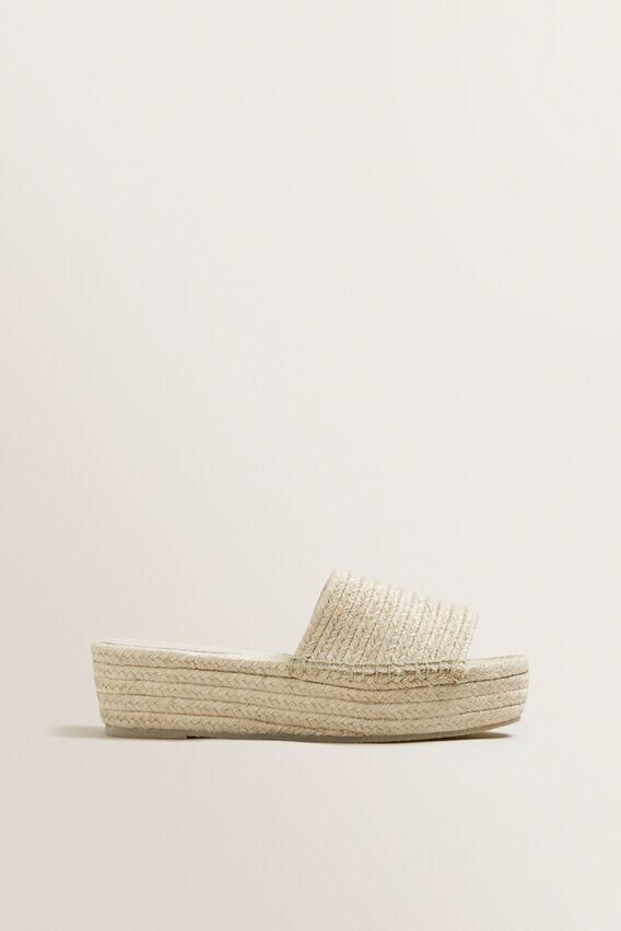 Alexa Platform Sandal  NATURAL  hi-res