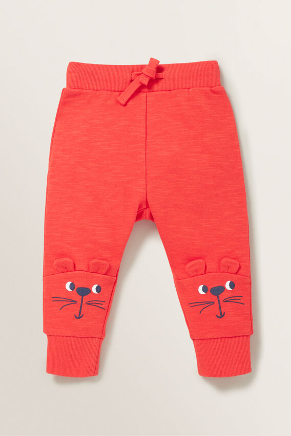 Novelty Mouse Trackpant  BERRY  hi-res