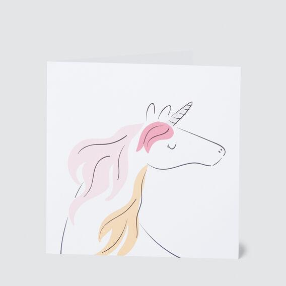 Large Unicorn Card  MULTI  hi-res