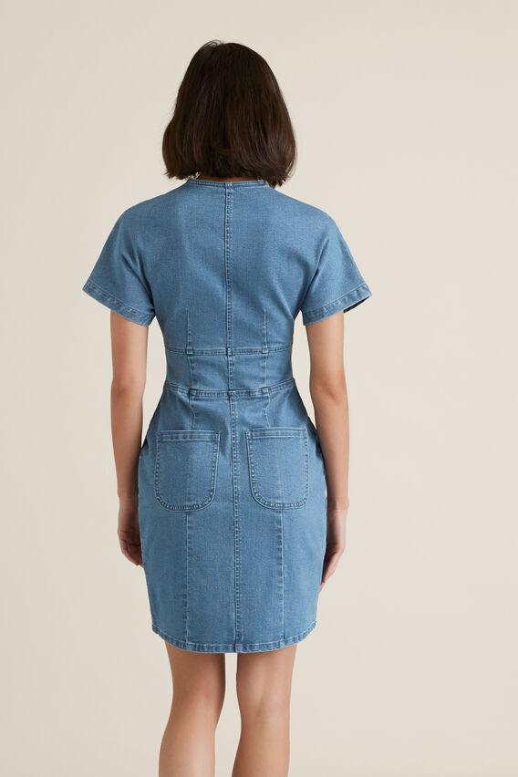 Mini Zip Through Dress  CLASSIC DENIM  hi-res