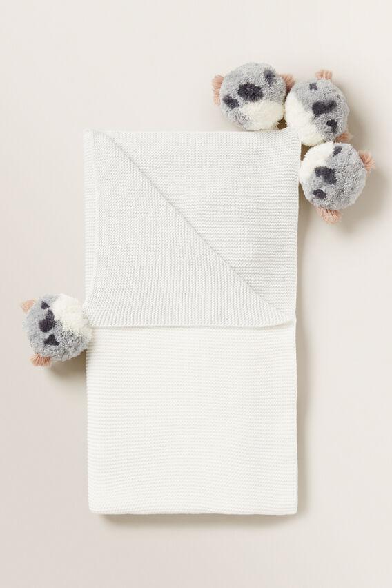 Bear Pom Pom Blanket  ICY MARLE  hi-res