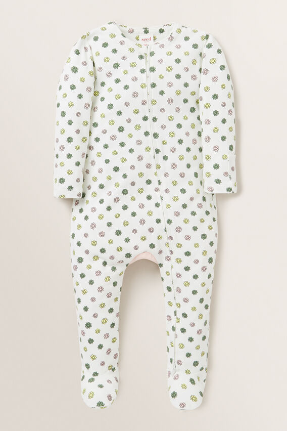 Floral Zip Suit - (Available in size 00000)  CANVAS  hi-res