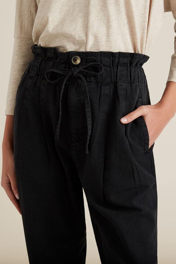 Paper Bag Casual Pant  BLACK  hi-res