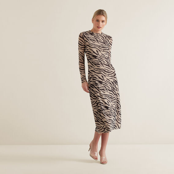 Sketchy Zebra Dress  ZEBRA PRINT  hi-res